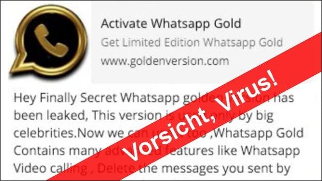Vorsicht: WhatsApp Gold Virus unterwegs!