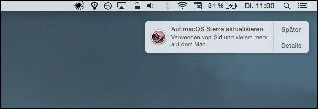 Mac OS: Sierra-Update installieren