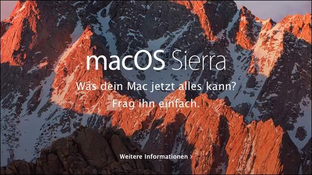 Mac OS Sierra Update: Achtung, Apple verteilt das Update jetzt automatisch!