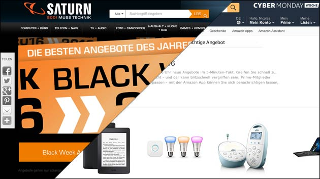 Cyber Monday und Black Week