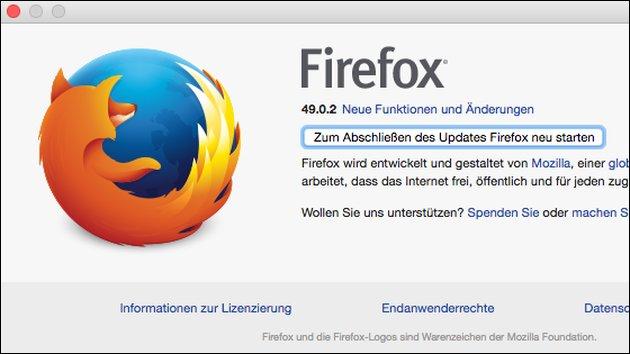 Wichtiges Firefox-Update: 50.0.1