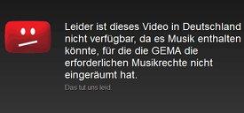 GEMA + YouTube-Einigung: Keine gesperrten Musikvideos mehr!