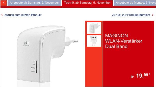 Samstag bei Aldi: Maginon WLAN Vverstärker zum Schnäppchenpreis!
