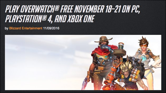 Gratis-Test: Overwatch Free Weekend!
