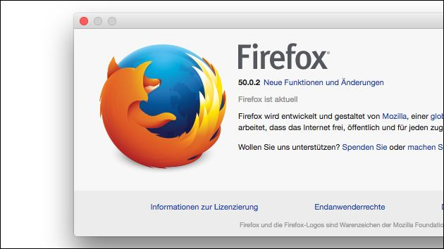 Firefox Update: Version 50.0.2 installieren!