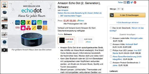 Amazon Echo jetzt ohne Einladung kaufen!