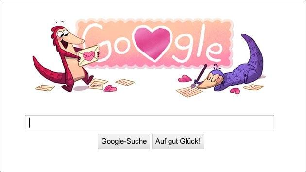 Googles Mini-Spiel zum Valentinstag