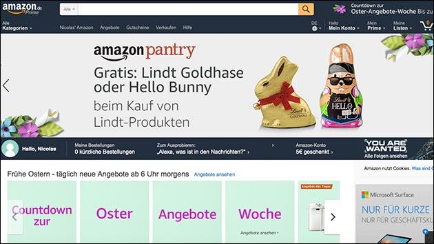 Amazon startet Oster-Angebote-Woche