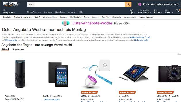 Amazon Oster Woche