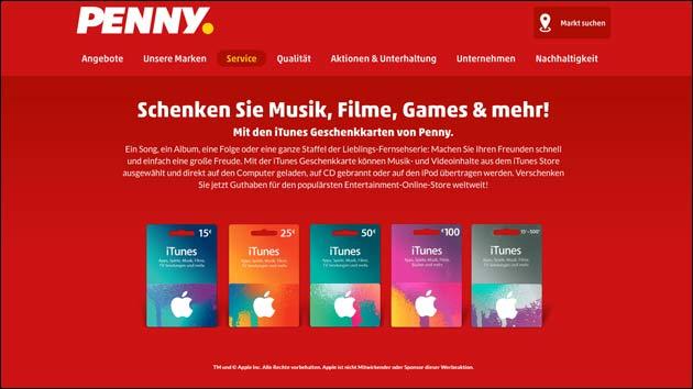 Penny: Diese Woche Rabatt auf iTunes Karten