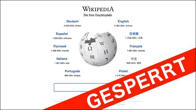 Wikipedia in der Türkei gesperrt!