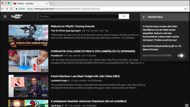 YouTube Nachtmodus aktivieren
