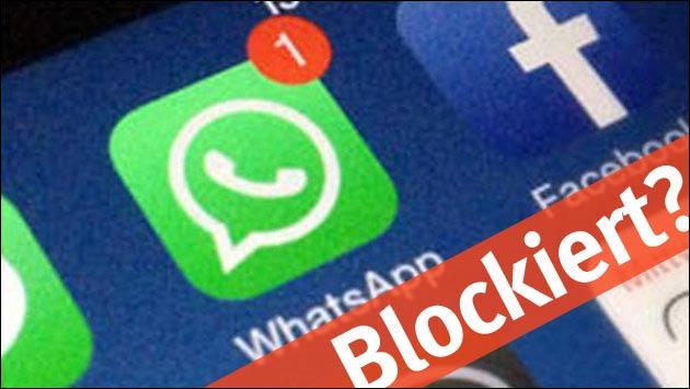 Bei WhatsApp geblockt?