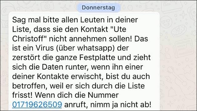 Tobias Mathis WhatsApp Kettenbrief