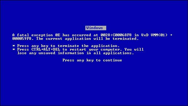 Windows Bluescreen Absturz