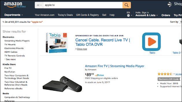 Amazon App Apple TV