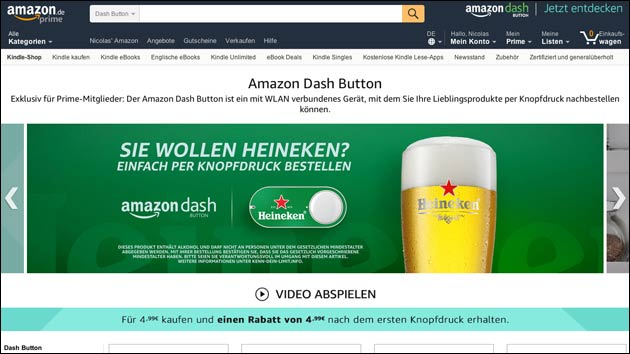 Neue Amazon Dash Buttons