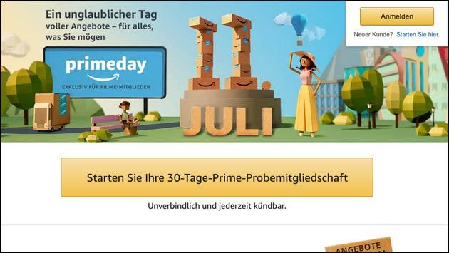 Amazon Prime Day am 11. Juli