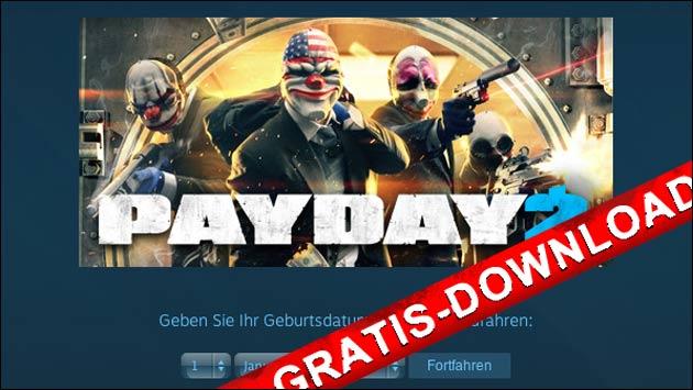 Payday 2 jetzt gratis bei Steam