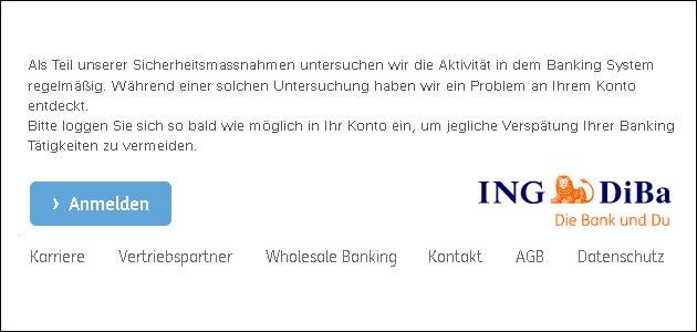ING DiBa Phishing Mail