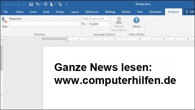 Dictate: Microsoft Office bekommt Diktierfunktion