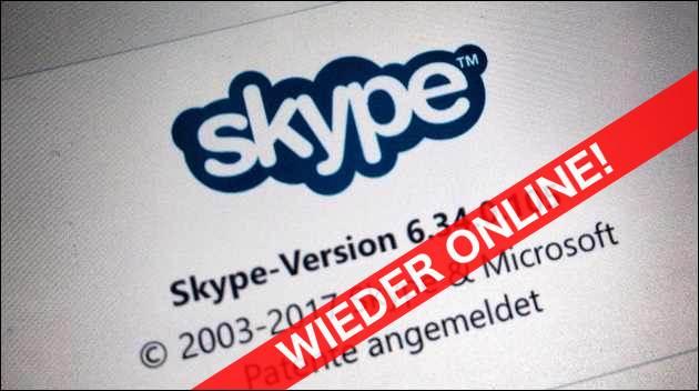 Skype wieder online!