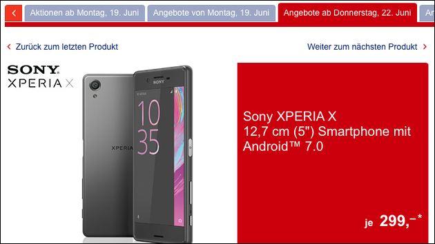 Sony Xperia X bei Aldi Süd