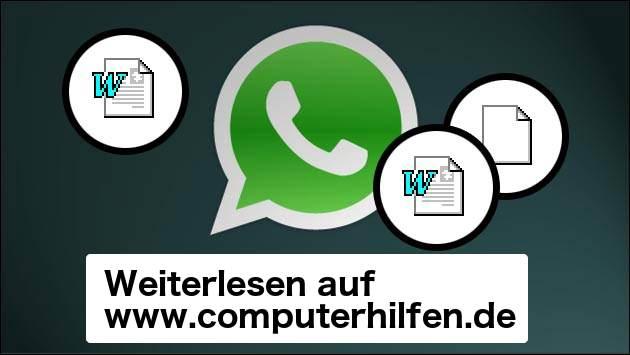 WhatsApp: Bald können alle Dateien versandt werden