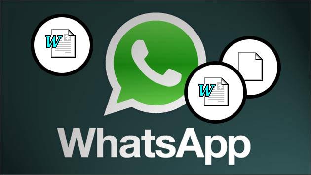 WhatsApp Dateien versenden