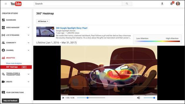 YouTube VR Heatmap