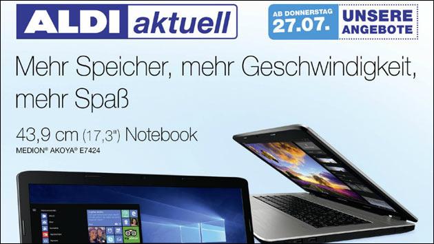 Heute Bei Aldi Nord Medion Akoya E7424 17 Notebook Für 549 Eur