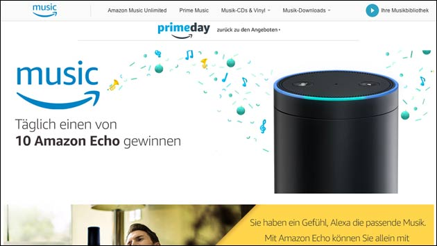 amazon gewinnspiel t glich einen von 10 amazon echo gewinnen. Black Bedroom Furniture Sets. Home Design Ideas