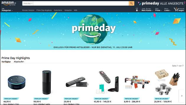 amazon prime day startet heute angebote eur gewinnspiel. Black Bedroom Furniture Sets. Home Design Ideas