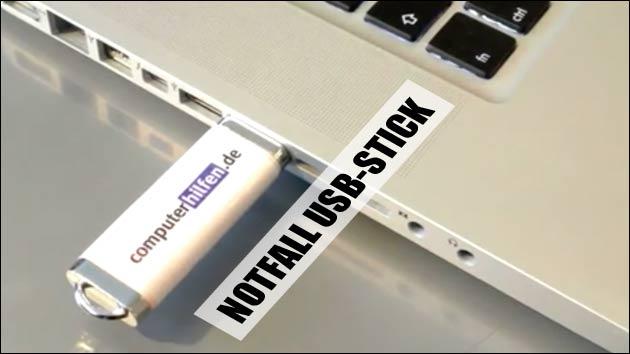 Notfall USB Stick erstellen