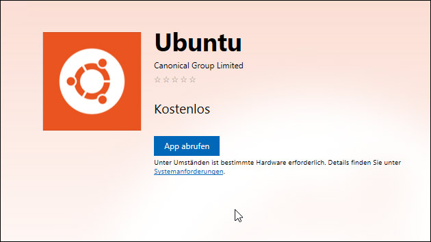 Ubuntu für Windows 10