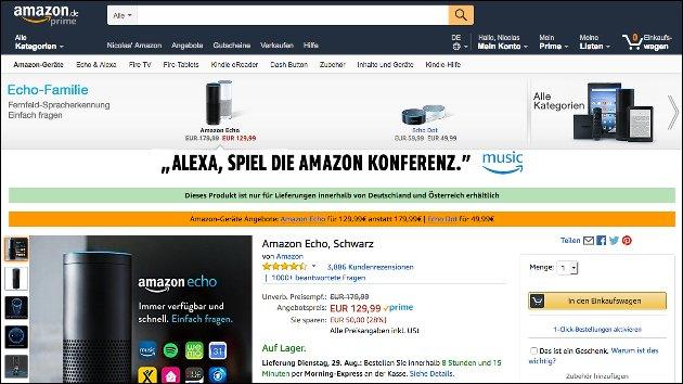 Amazon Echo Angebot