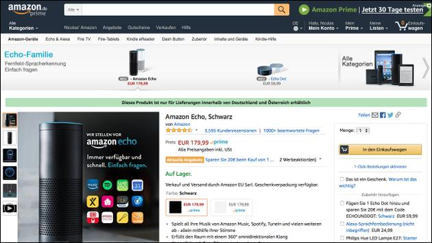 Amazon Echo Gutschein