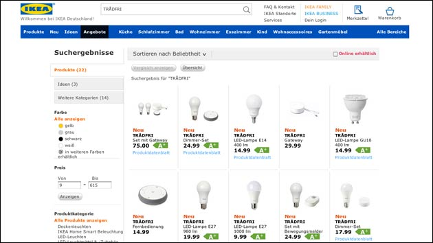 Ikea: Lampen mit HomeKit, Alexa oder Google Home steuern