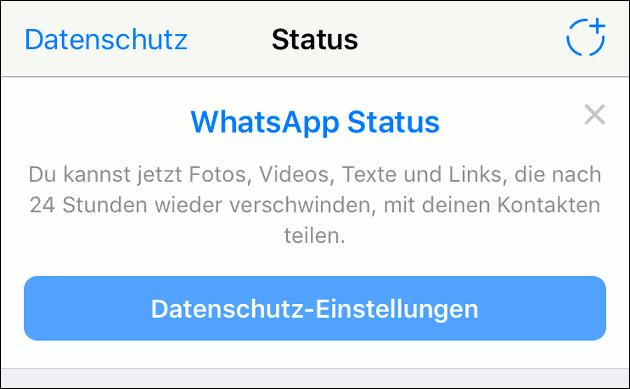 Whatsapp Update Bunter Text Für Die Status Meldungen