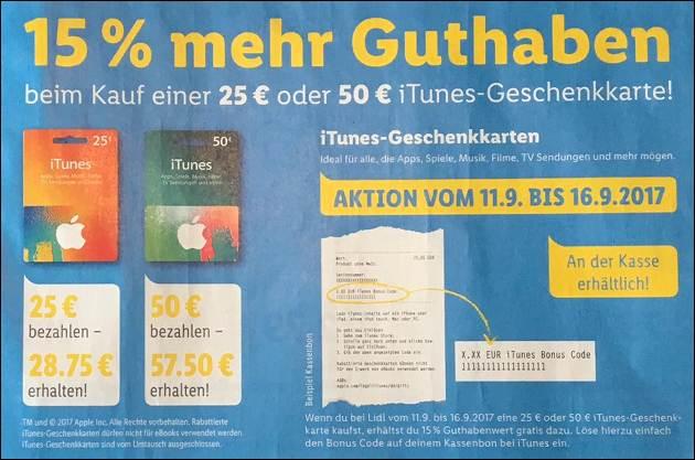 iTunes Extra-Guthaben