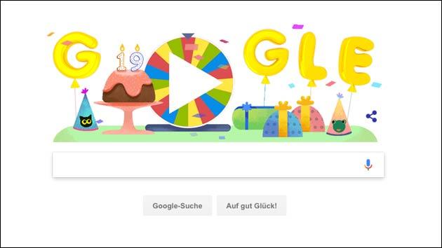 Google Geburtstagsüberraschung