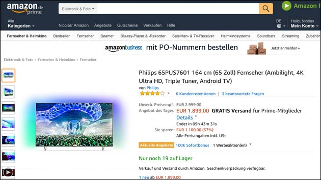 Philips UHD TV Amazon