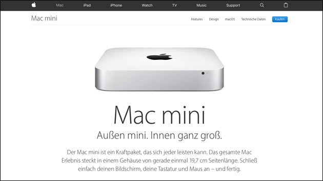 Apple Mac Mini Update 2018