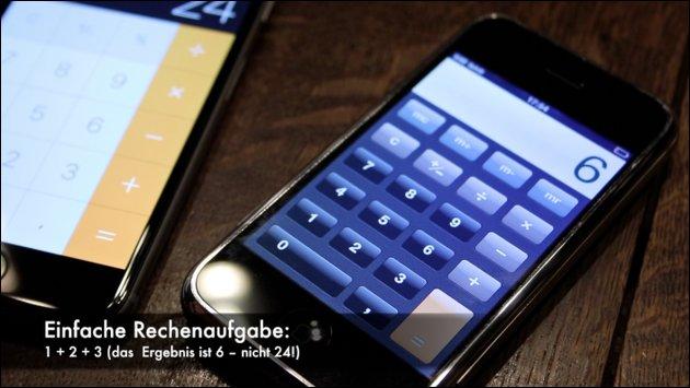 iOS Bug: iPhone Taschenrechner (iOS 11)