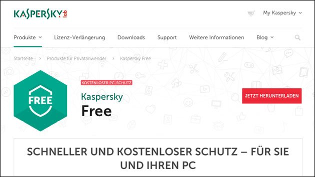 Kaspersky Virus-Schutz kostenlos