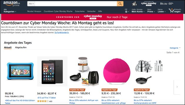 Amazon Angebote Countdown