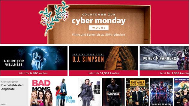 Amazon Countdown zur Cyber-Monday-Woche
