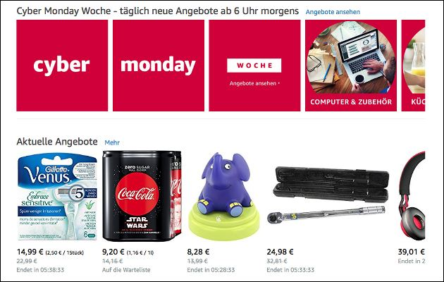 Amazon Cyber-Monday-Woche