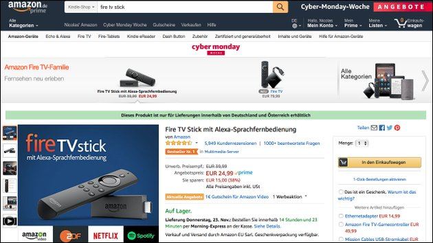 Amazon Fire TV Stick im Angebot