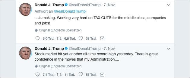 Donald Trump Twitter 280 Zeichen